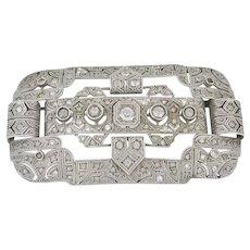 Deco Intricate Design Brooch