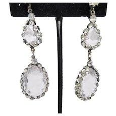 Ultra Sparkly Long Crystal Dangle Earrings