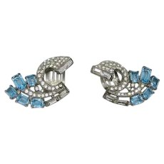 Trifari Alfred Philippe Sterling Clip Earrings