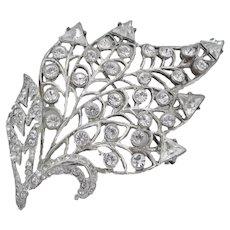 Eisenberg Original Sterling Leaf Brooch
