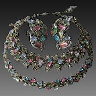 HOLLYCRAFT 1950 Multi Color Necklace, Earrings & Bracelet