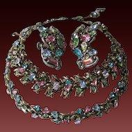 HOLLYCRAFT 1950 Multi Color Necklace, Earrings & Bracelet