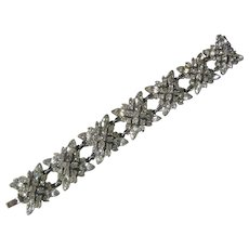 BOGOFF Beautiful Rhinestone Cluster Links Vintage Bracelet