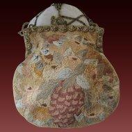 Fabulous Antique Frame & Embroidered Antique Purse