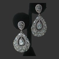 Genuine Sky Blue Topaz Stones 925 Sterling Silver Earrings
