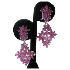 Rubies Set In 925 Sterling Silver Earrings Beautiful