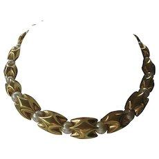 NAPIER Glass Pearls & Gold Tone Vintage necklace