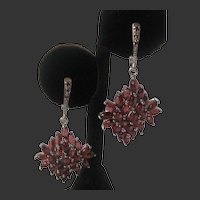 Real Mozambique Garnets Rhodolite Garnets In 925 Sterling Silver Earrings