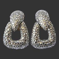Linda Joyce Sparkling Rhinestone Covered Earrings