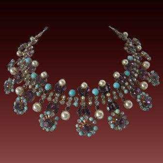 MODELE Maryse Blanchard Paris Rare Vintage French Ornate Bib Necklace