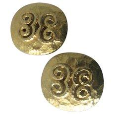 CLARA STUDIO Inc. Vintage Gold tone Earrings