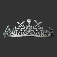 Zillions Of Tiny & Larger Openback Clear Cz Stones Wedding Crown Tiara Headband