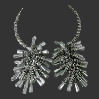 Julie Rubano Dangling Crystals & Mirror like Beads & Rhinestones Necklace
