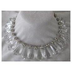 Julie Rubano Crystals & Rhinestones Vintage Bib Necklace
