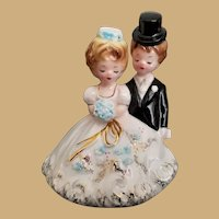 Early Vintage Signed Josef Original California Bride and Groom Figurine