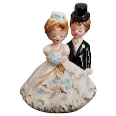 Early Vintage Signed Josef Original California Bride and Groom Figurine