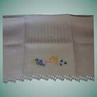 "Vintage Hand Embroidered ""Guest"" Towel"
