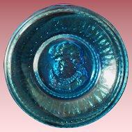 Vintage Blue Glass ABC Plate