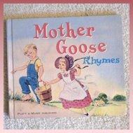 "Vintage Hardbound Book -""Mother Goose Rhymes"""