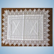 Rare Vintage Embroidery, Crochet and Drawn Work Carving Cloth