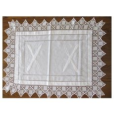 Very Rare Vintage Embroidery, Crochet and Drawn Work Carving Cloth