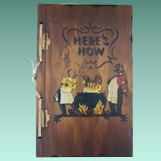 "Vintage Hardbound Cookbook - ""Here's How Mixed Drinks"""