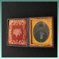 Civil War Era Photograph Case with Tin Type