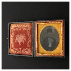 Civil War Era Photograph Case with Tin Type