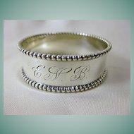 Vintage Signed Hartford Sterling Company Sterling Silver Napkin Ring