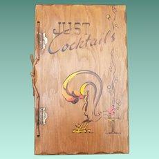 """Vintage Hardbound Cookbook - """"Just Cocktails"""""""
