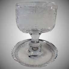 Scarce Vintage American Brilliant Cut Crystal Glass Cigarette Holder