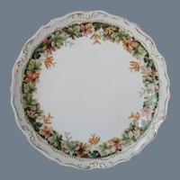 Antique Porcelain Autumn Leaves Plate