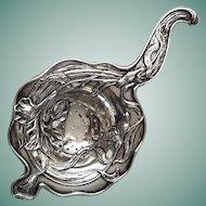 Antique Art Nouveau Sterling Silver Tea Strainer