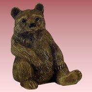 Vintage Composition Brown Bear Figurine