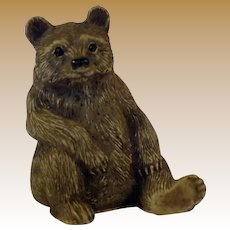 Vintage Composition Brown Bear Figurine
