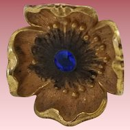 Antique Victorian Flower Hat Pin