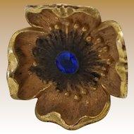 Antique Victorian Flower Hat Pin