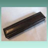 Antique Victorian Small Wooden Box Needle Case