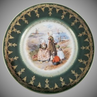 Vintage Signed Large Royal Vienna Porcelain Plate