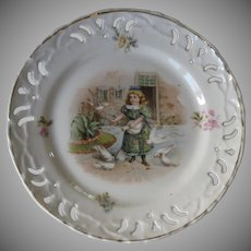 Vintage Victorian Reticulated Plate