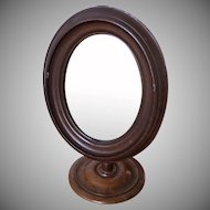 Antique Victorian Walnut Toilet Mirror