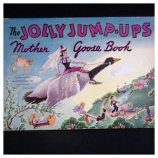 """Vintage Book - """"The Jolly Jump-Ups Mother Goose Book"""""""