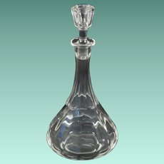 Antique Clear Blown Glass Decanter