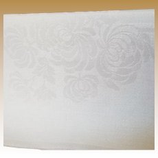 Set of Eight Vintage Irish Linen Double Damask Napkins