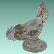 Vintage New Martinsville Clear Glass Hen
