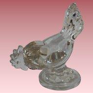 Vintage New Martinsville Clear Glass Hen