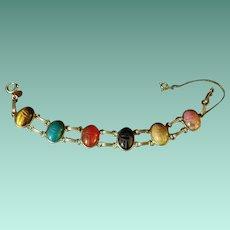 Vintage Gold Fill Double Link Scarab Bracelet