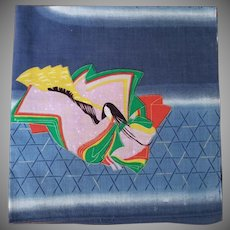 Vintage Geisha Handkerchief