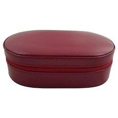 Vintage Genuine Leather Jewelry Case