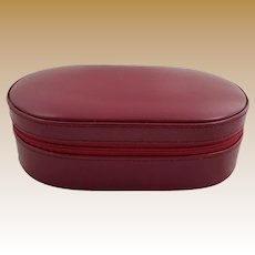 Vintage Genuine Leather Jewelry Case